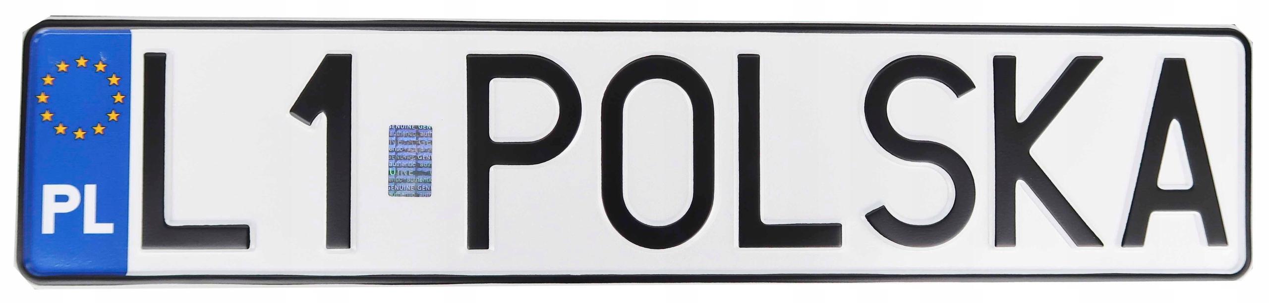 Polskie tablice kolekcjonerskie hologram