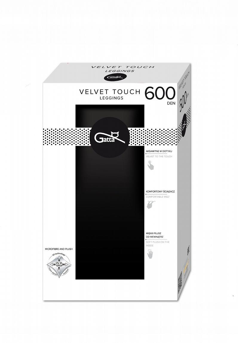 Gatta legginsy Velvet Touch 600 den nero S-2