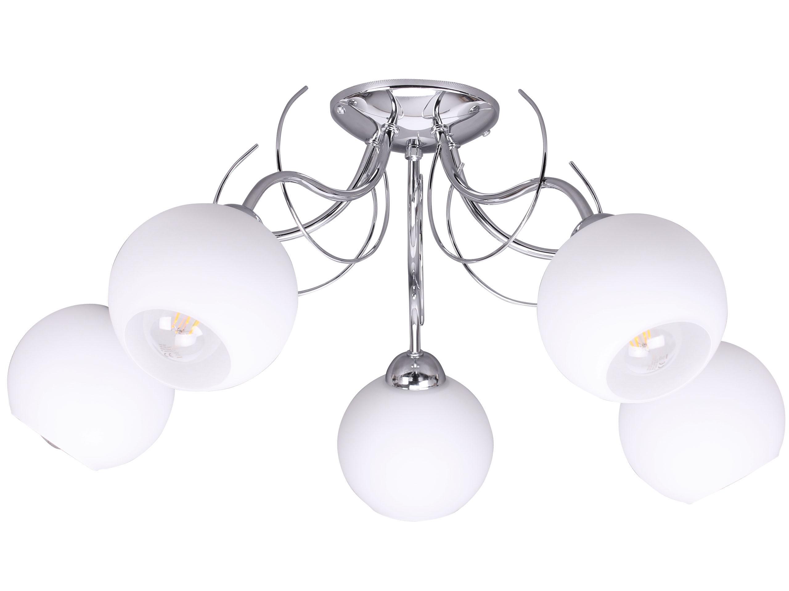 Elegancka Lampa Sufitowa Do Sypialni Szklany Klosz 7337748273