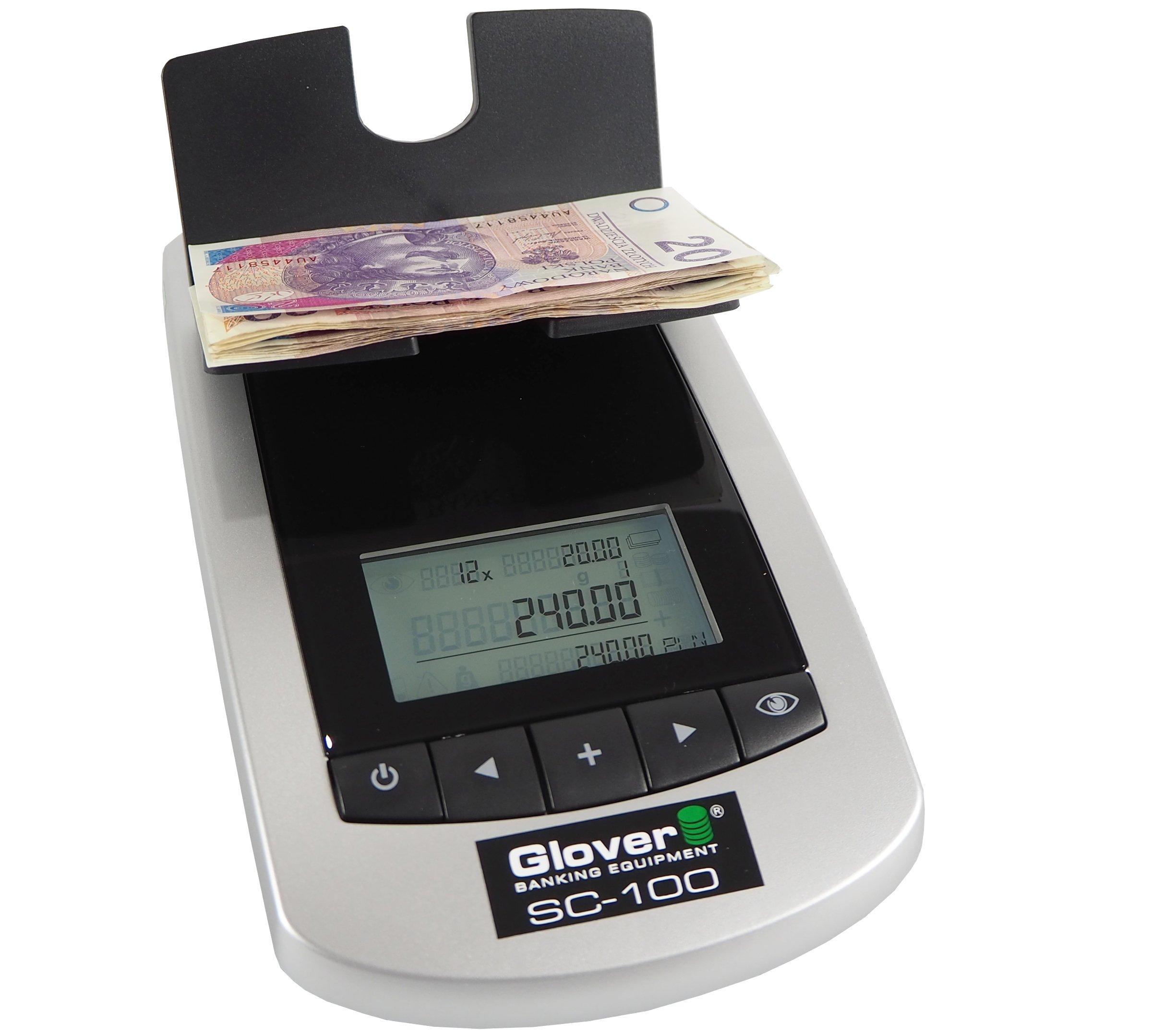 Váženie nuterátor pre bankovky, monet glover SC-100