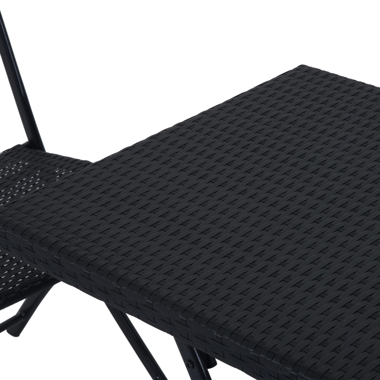 Ratanový záhradný nábytok, stôl a stoličky, set čierny Typ stola a stoličiek