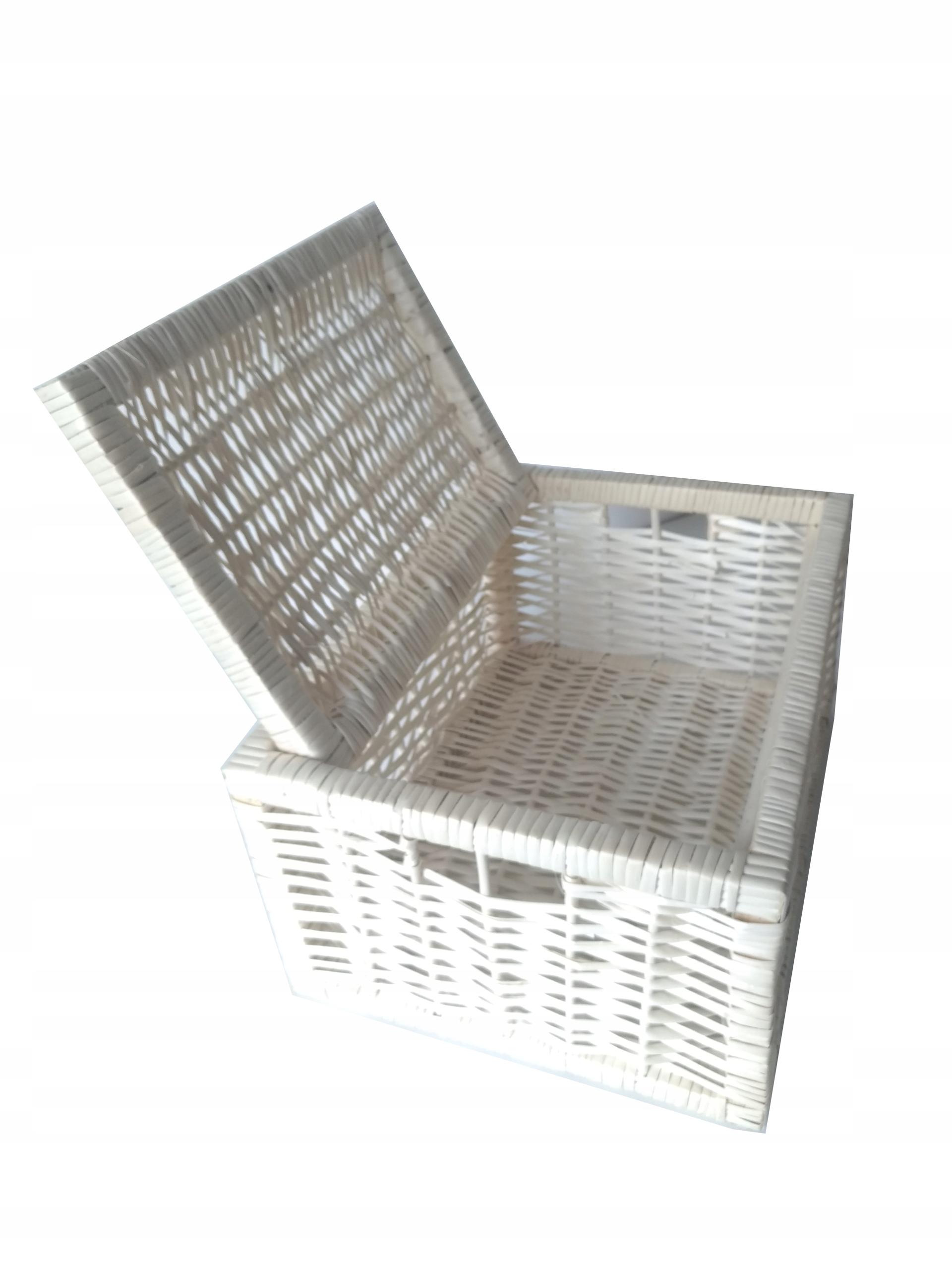Skrzynka wiklinowa regałowa szuflada pojemnik