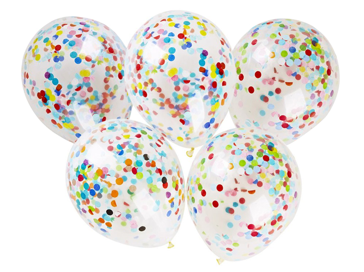 Item Balloon with Confetti Balloons Crystal 40 cm Party