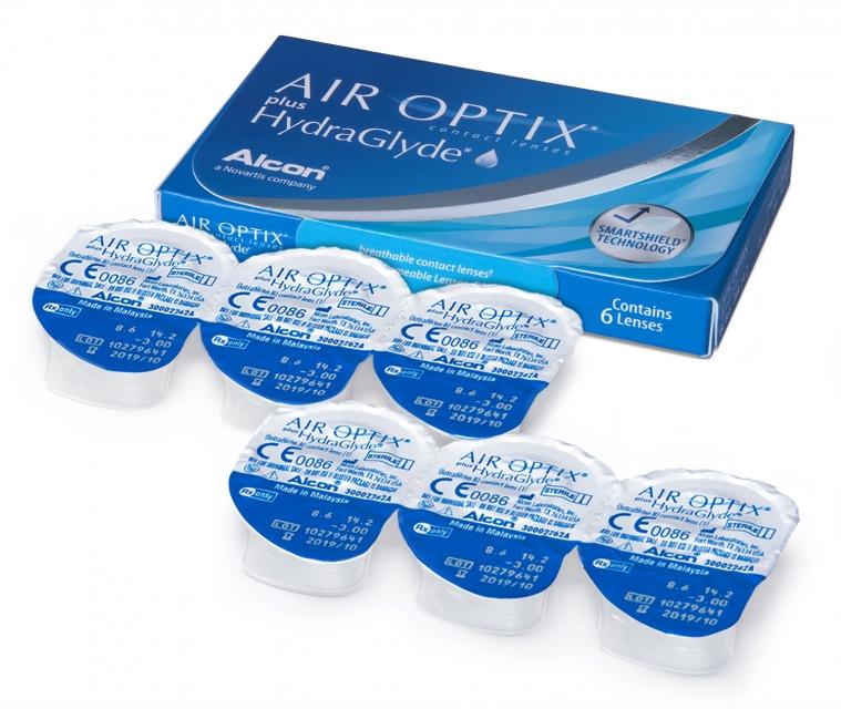 AIR OPTIX Plus HydraGlyde3 szt soczewki miesięczne