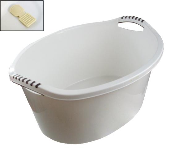 Big Bowl Kork Bath Bath White umývanie 60l