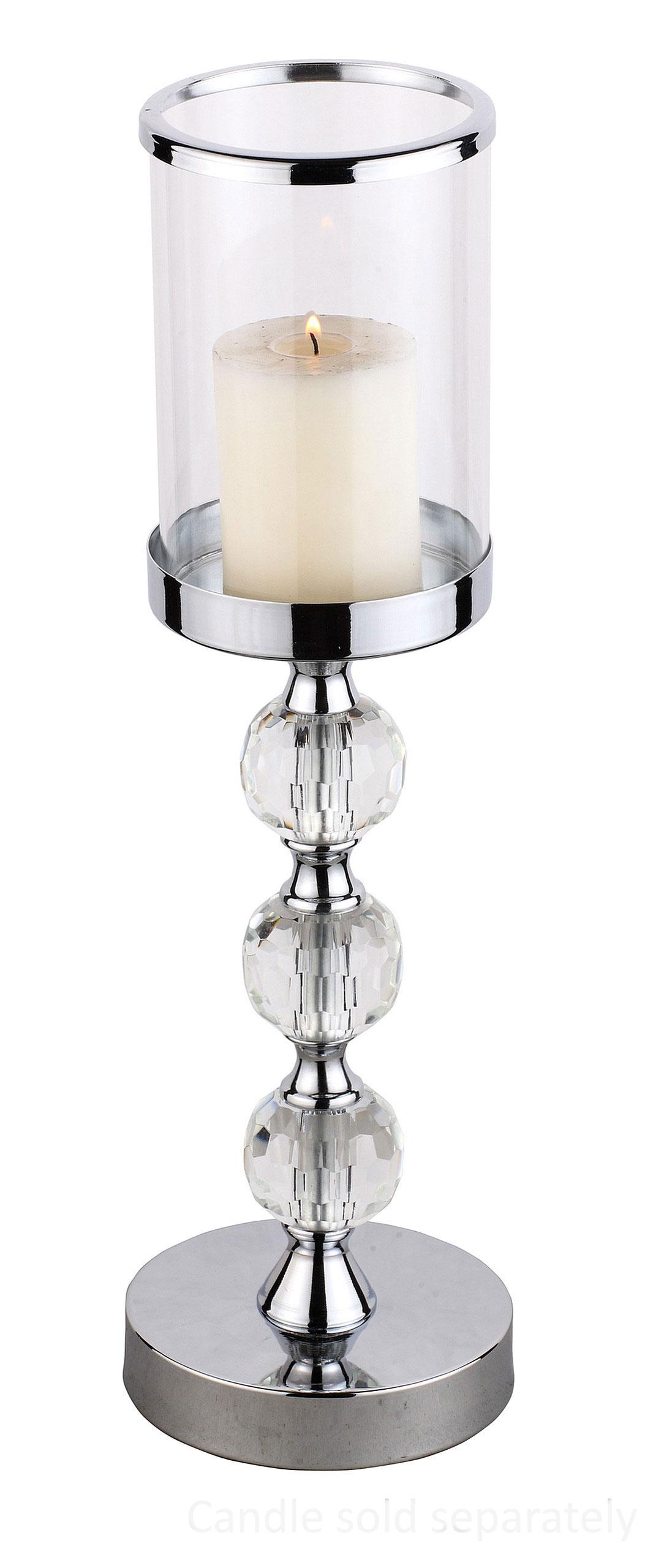 Подсвечник стеклянный Фонарь гламур 3 кристалл . шарики