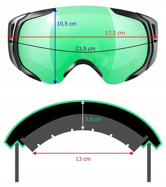 ICE Q Gogle narciarskie Cortina 3 na okulary OTG 7748577204
