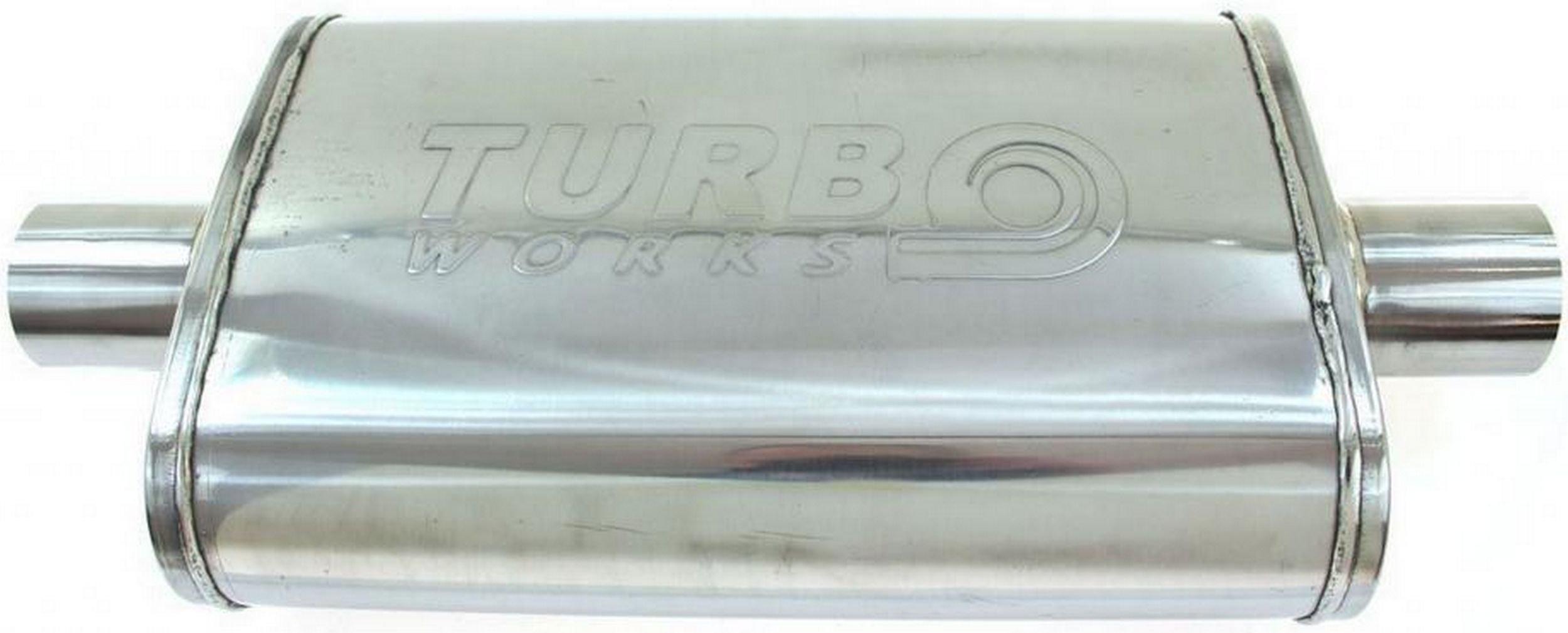 глушитель Средний сквозное 3'' turboworks сталь 409