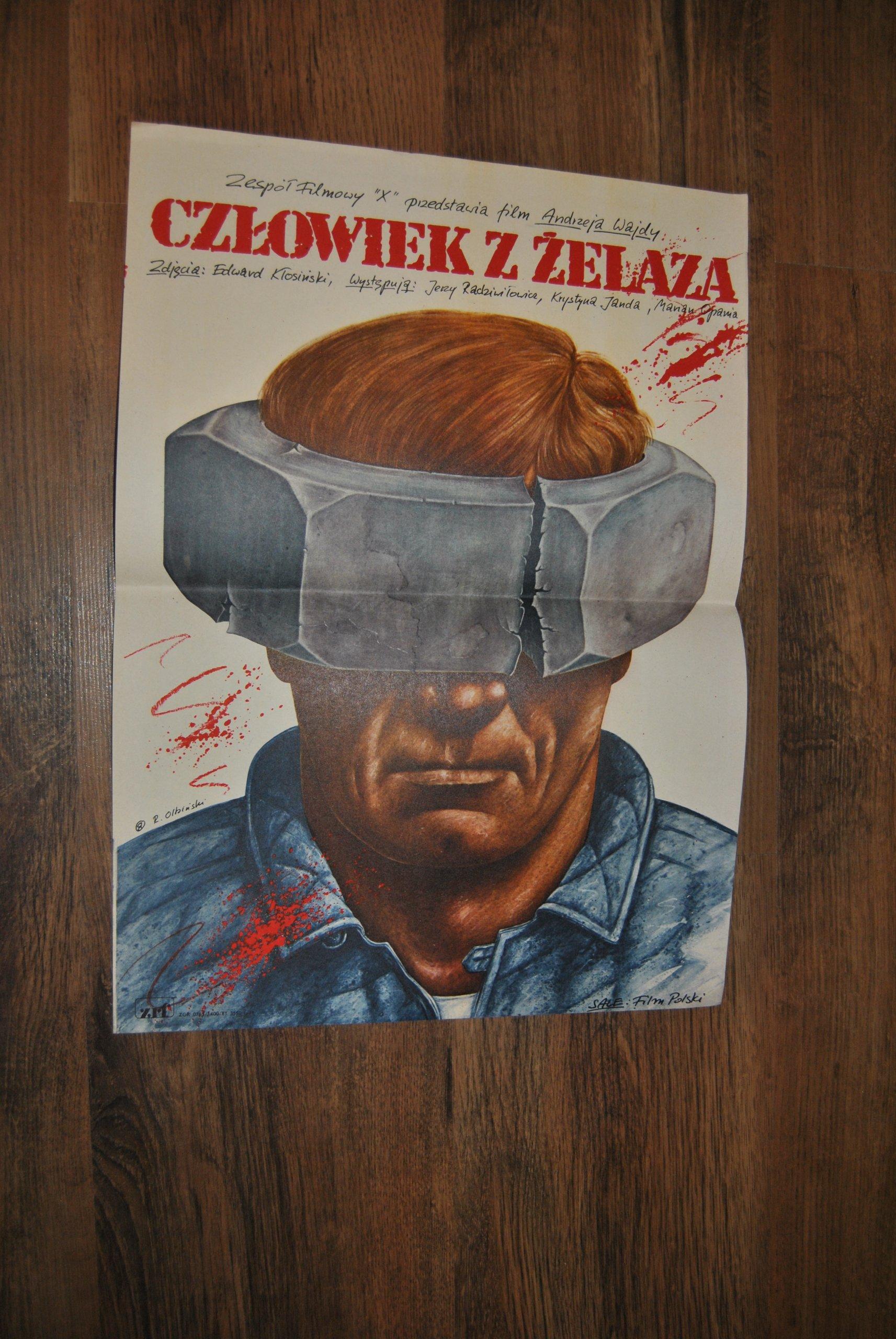 Plakat Filmowy Człowiek Z żelaza Olbiński 7179228649