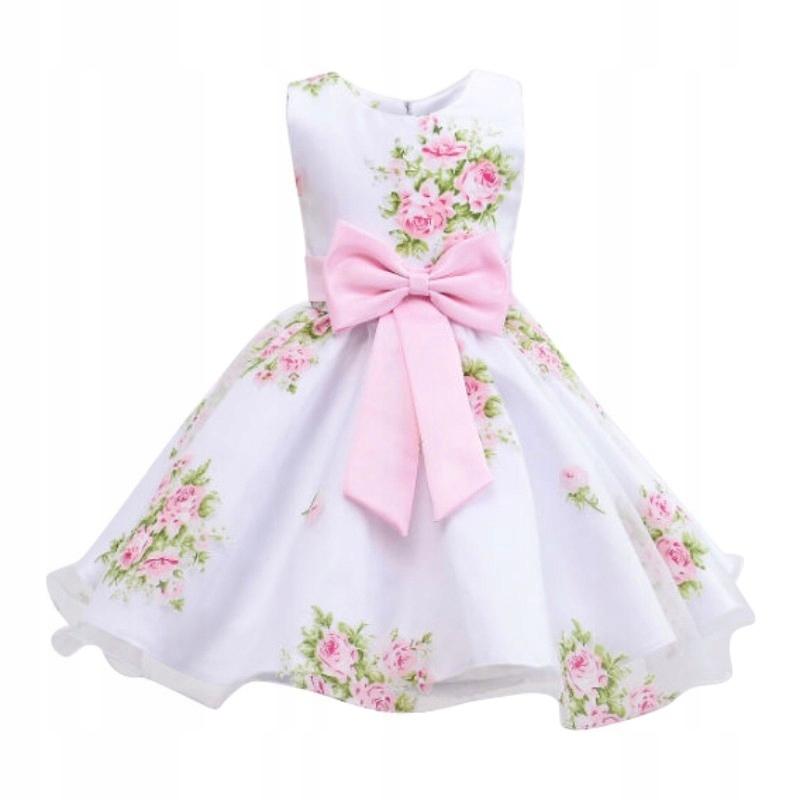 13783470e0 Sukienka nr 16 czysta biel w kwiaty tiul 92 2 lat - 7502842982 ...