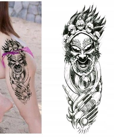 Naklejany Tatuaż Kalkomania Tattoo Demon Diabeł 7485908101