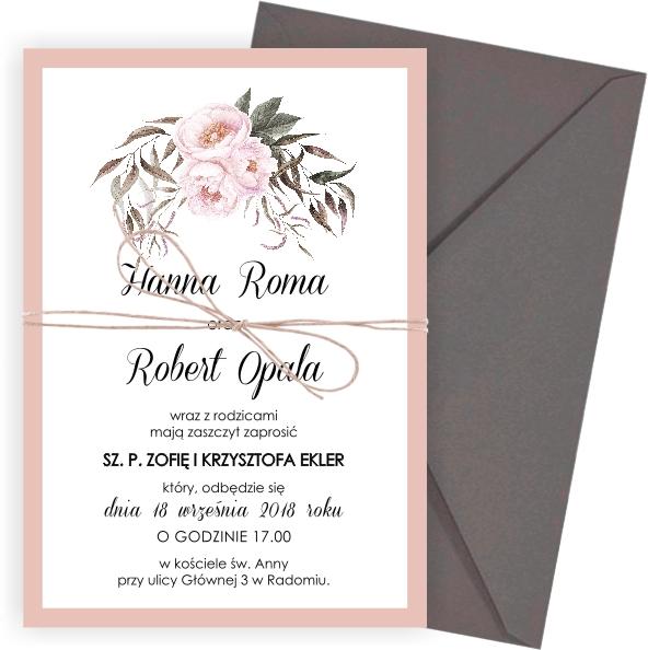 Zaproszenia ślubne Na ślub Rustykalne Dekolo 7116798682
