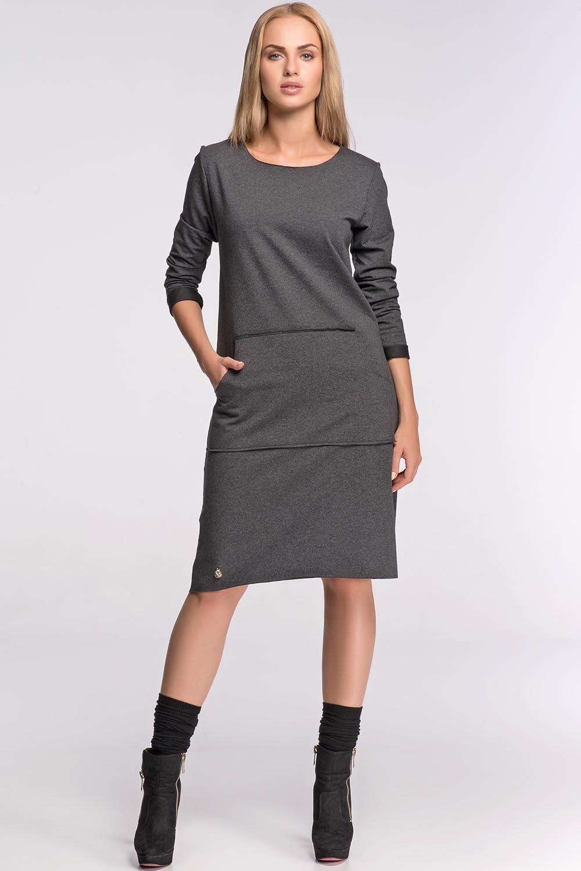 2795b096a5 Dresowa sukienka Makadamia M266 grafit 40 - 7135990516 - oficjalne ...