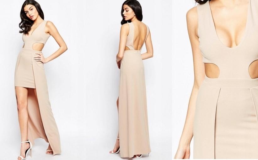 2bb05e6c73 Seksowna zmysłowa suknia Maxi beż roz36 - 7383979718 - oficjalne ...