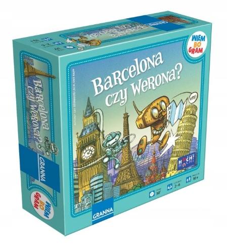 GRANNA planszowa Gra Barcelona czy Werona? 10+