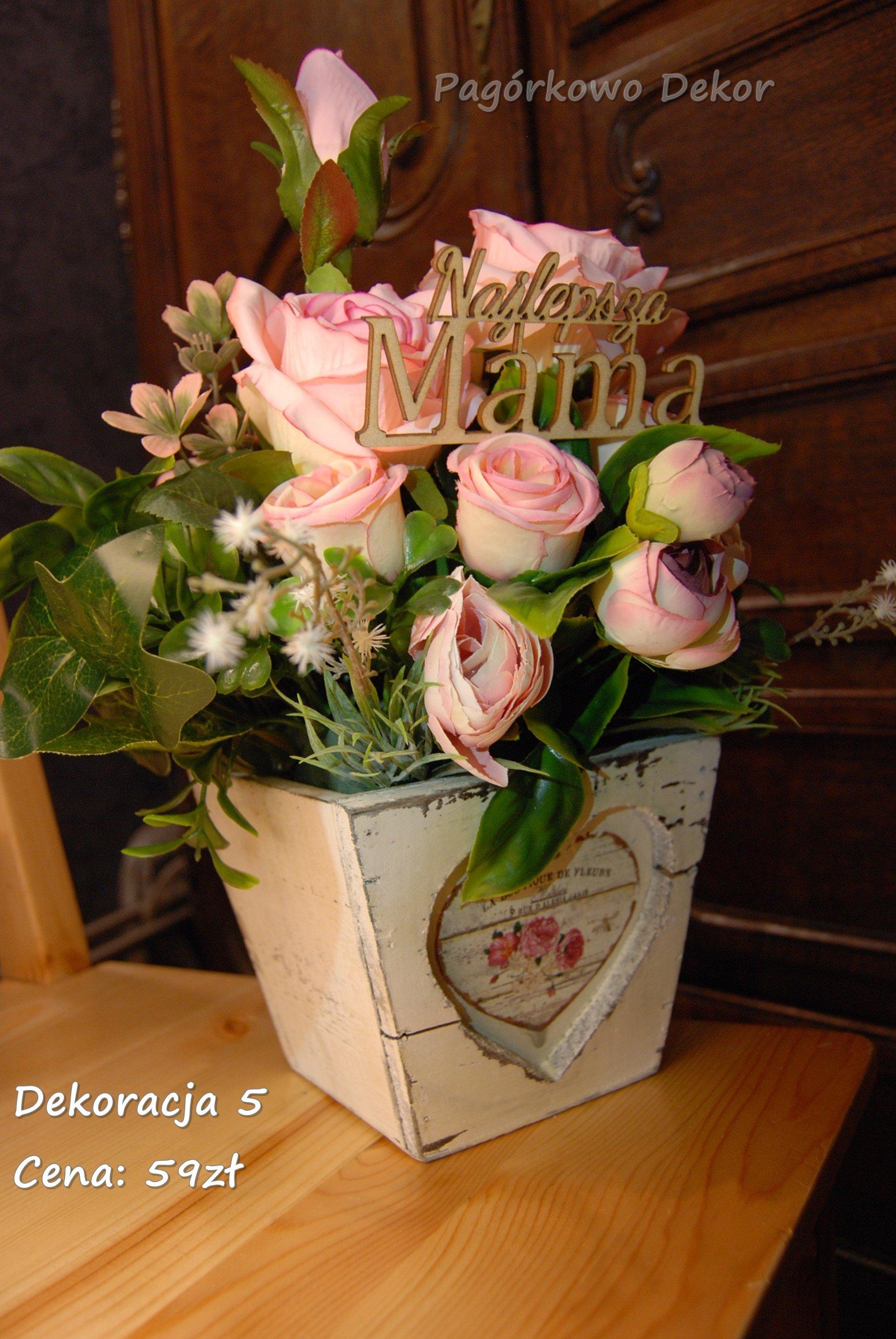 Prezent Na Dzień Matki Flower Box Kompozycja 7351000219