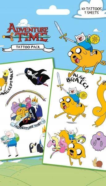 Adventure Time - zmywalne tatuaże
