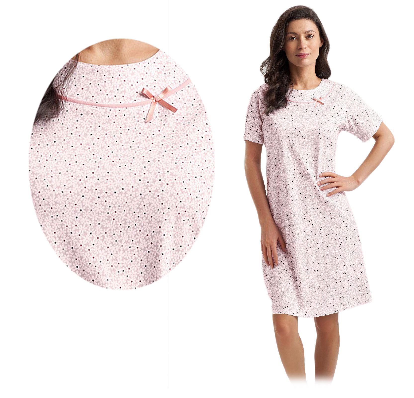 838cbbe6974e0d koszula LUNA 47 XL łosoś bawełna KWIATKI PIĘKNA # - 7153232664 ...