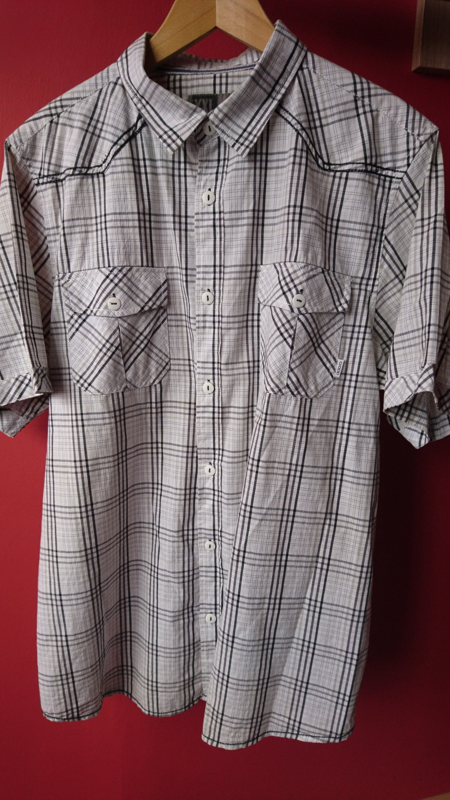 146c9f6fc1bedb Koszula męska CROPP XXL krótki rękaw, 100% bawełna - 7211604837 ...