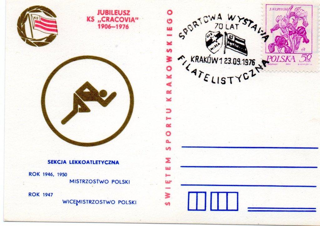 SPORT,Jubileusz KS CRACOVIA 1906-1976,Lekka Atlet.
