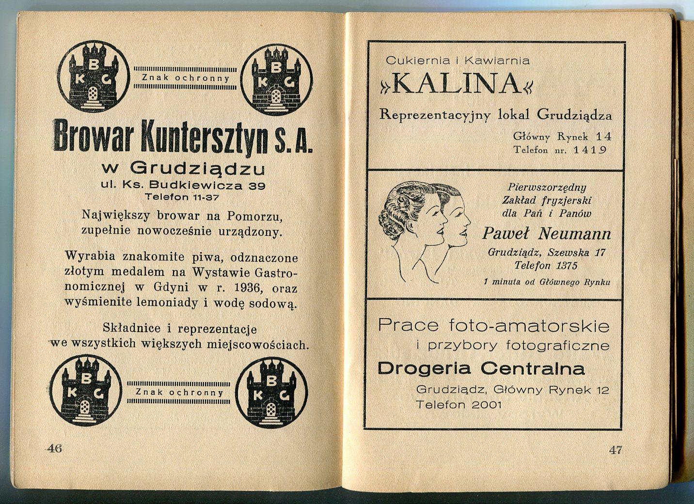 Grudziądz Przewodnik Z Planem 1937 Rok 7380475739 Oficjalne