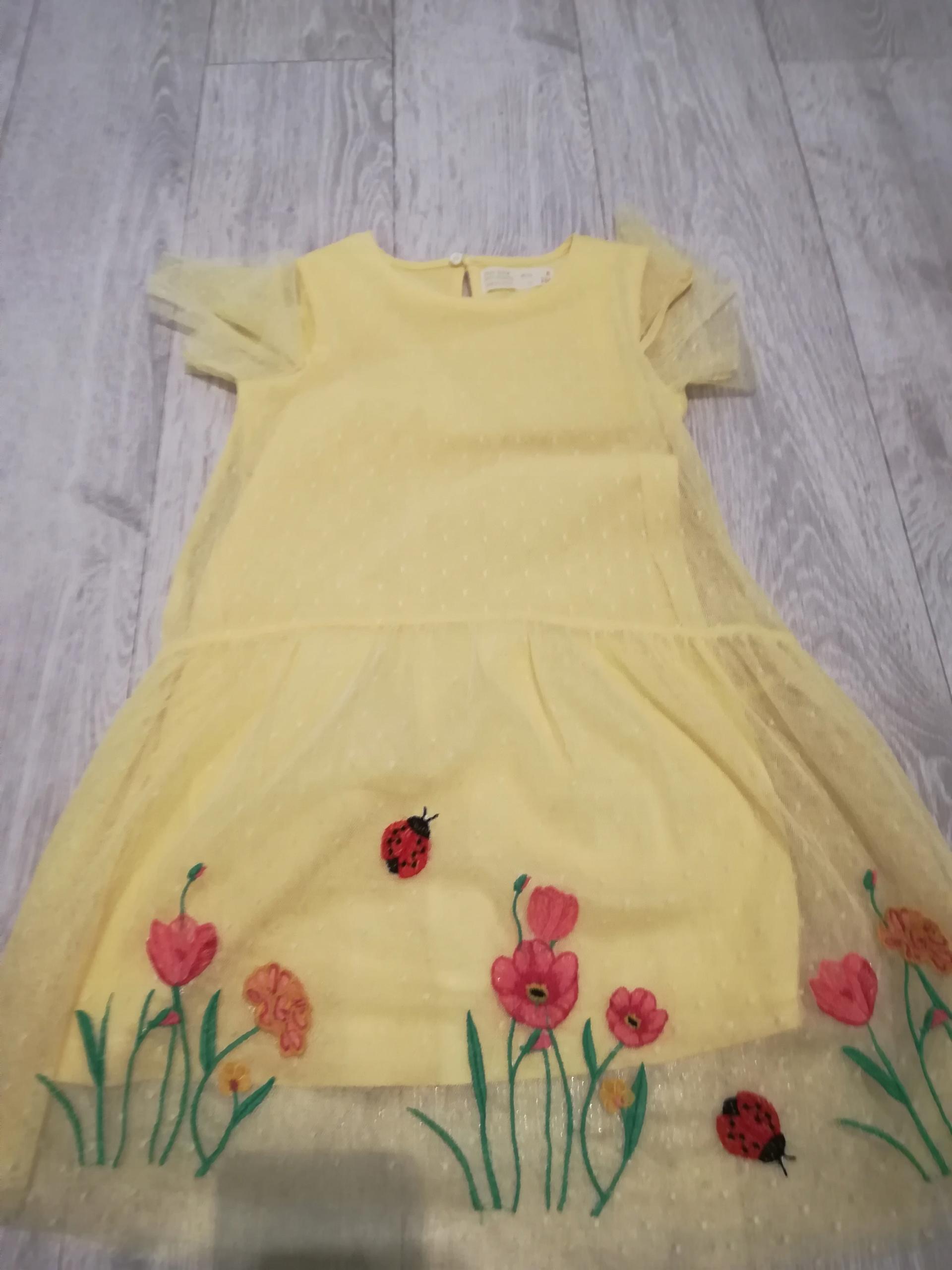 ZARA zestaw sukienka, kardigan 116