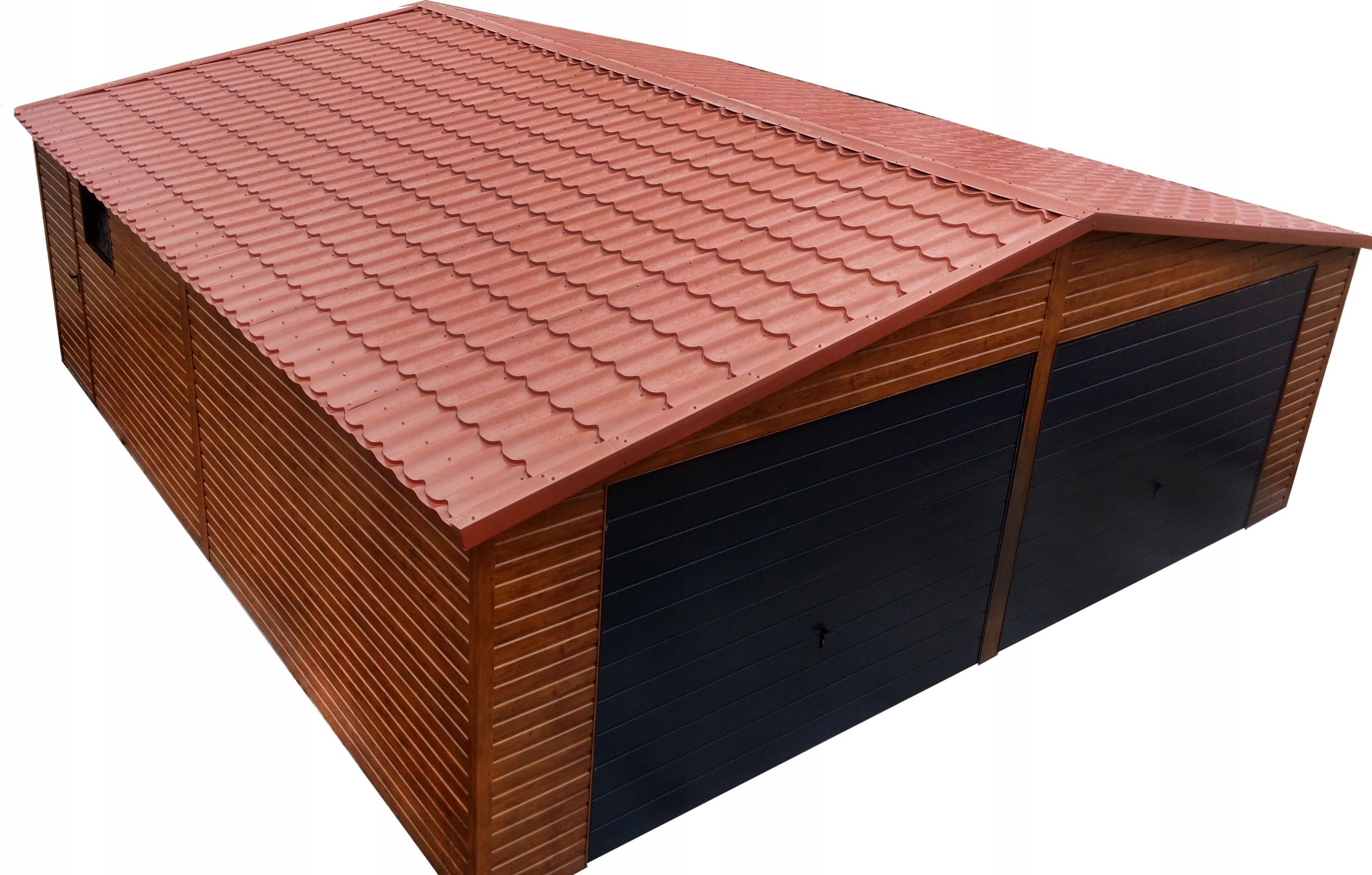 Garaże Blaszane Garaż Blaszany Drewnopodobny 7478757343