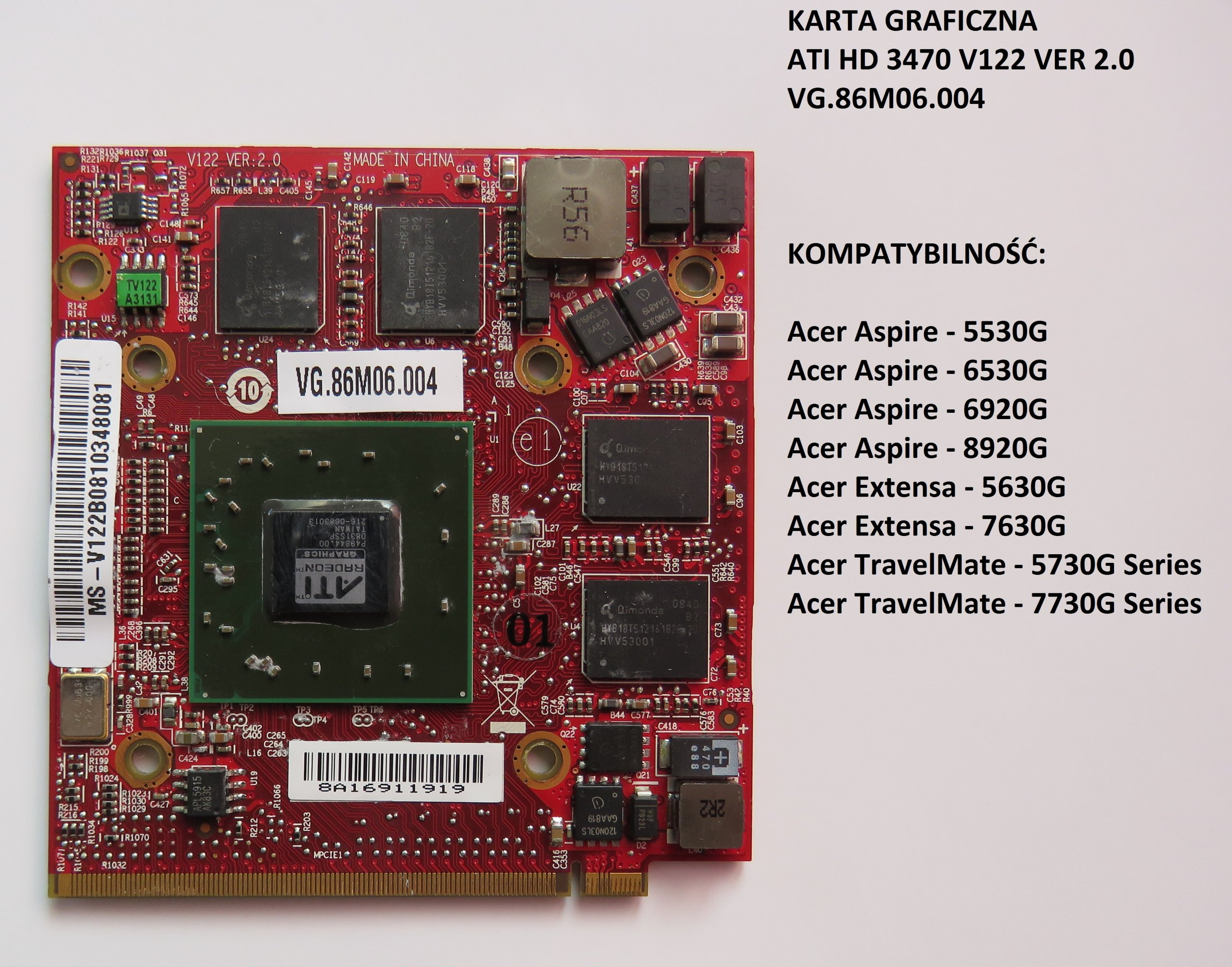 Karta Graficzna Do Laptopa Acer 7200406644 Oficjalne Archiwum