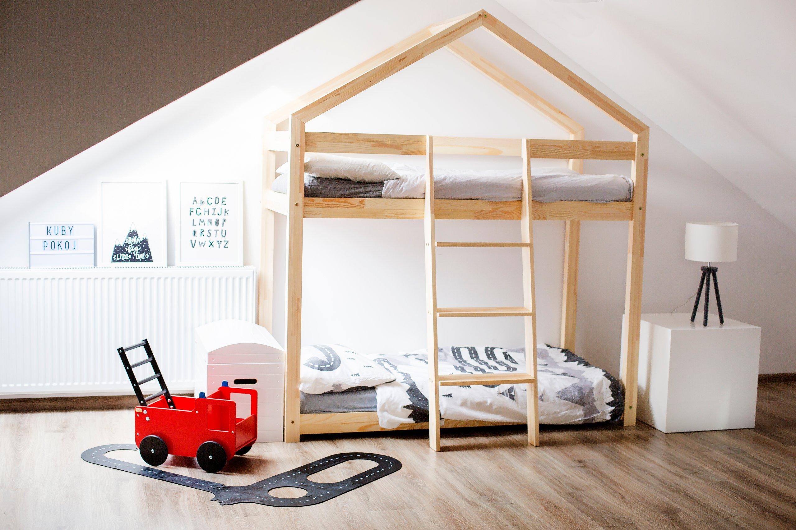 łóżko Piętrowe Domek Dziecięce Dmp 80x160 Adeko 7272543725