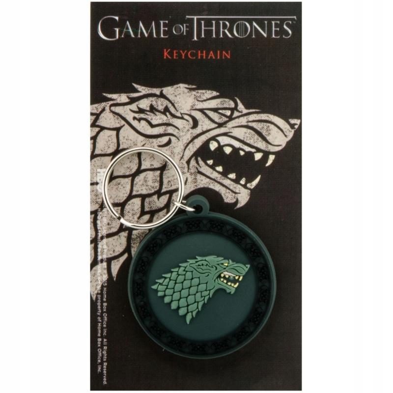 Brelok do kluczy gumowy Gra o tron (Stark)