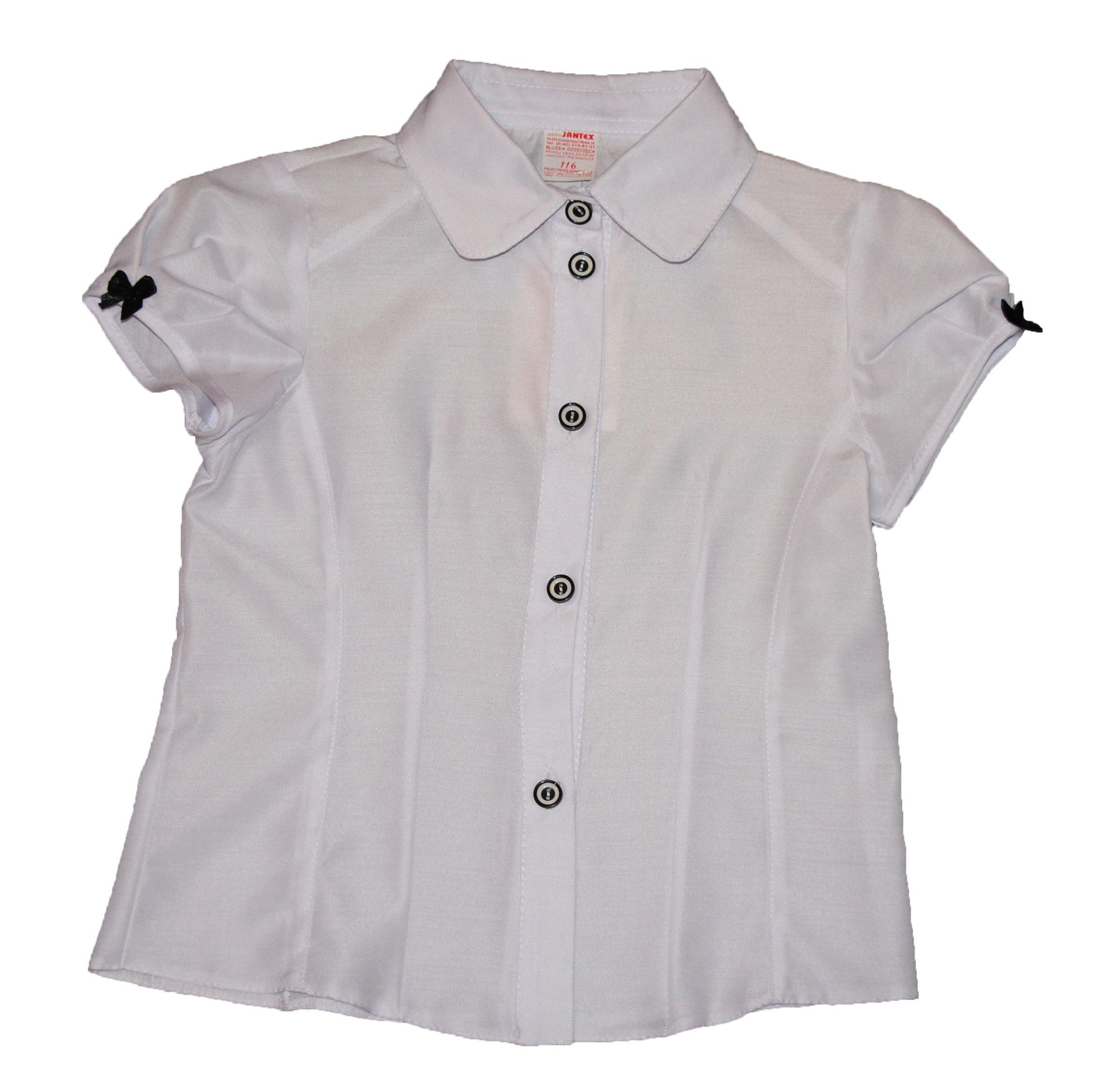 1c20eac7ba71e7 Biała dziewczęca koszula wizytowa r.116 % Promocja - 7258251130 ...