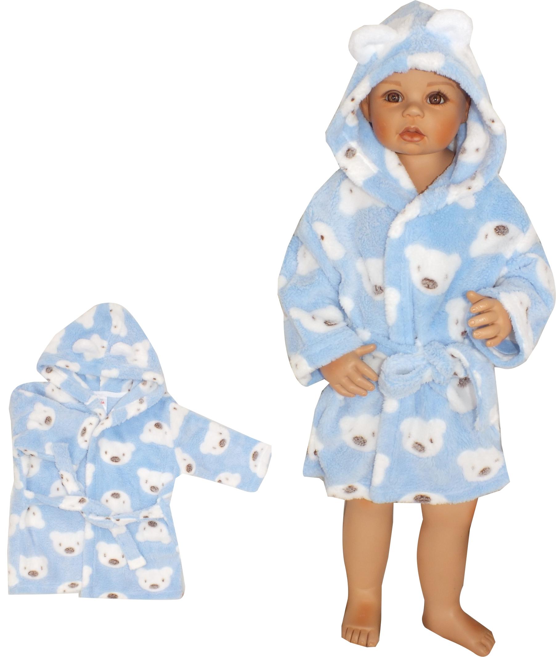370c64645574c3 Szlafrok dziecięcy niemowlęcy ciepły w misie 80 - 7278611402 ...