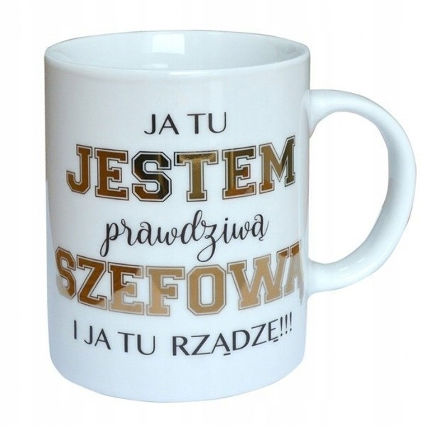 Kubek Premium Szefowa 7641099174 Oficjalne Archiwum Allegro