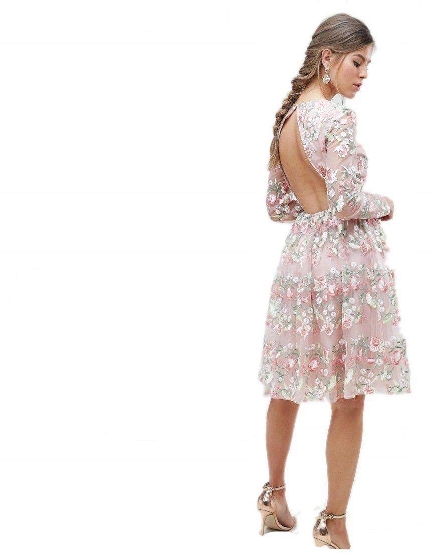 7674cde895a4c9 CHI CHI LONDON sukienka HAFTY midi KWIATY XS 34 - 7366776364 ...