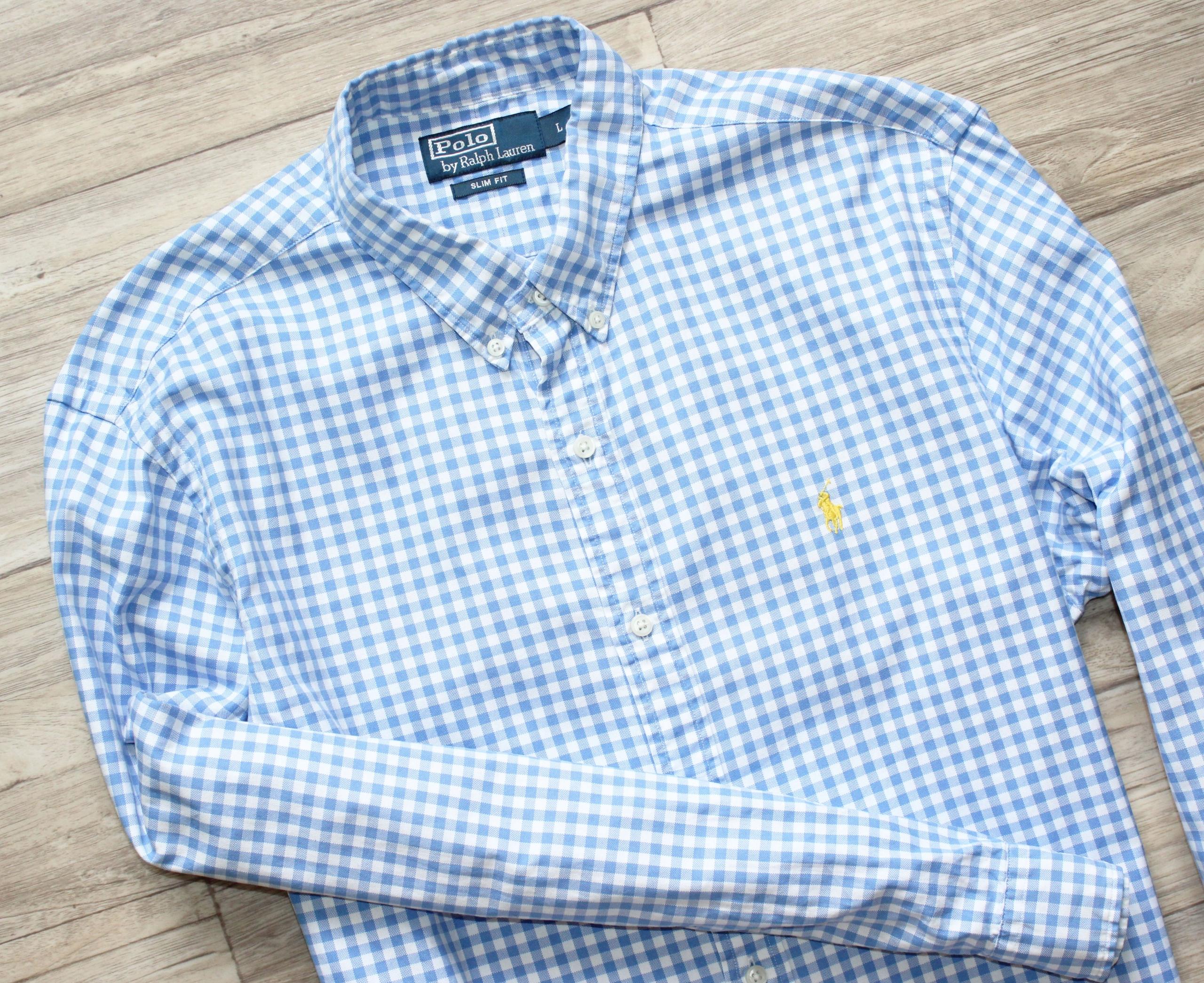 46998b1dc Koszula Ralph Lauren L slim fit oryginał idealna - 7460782833 ...