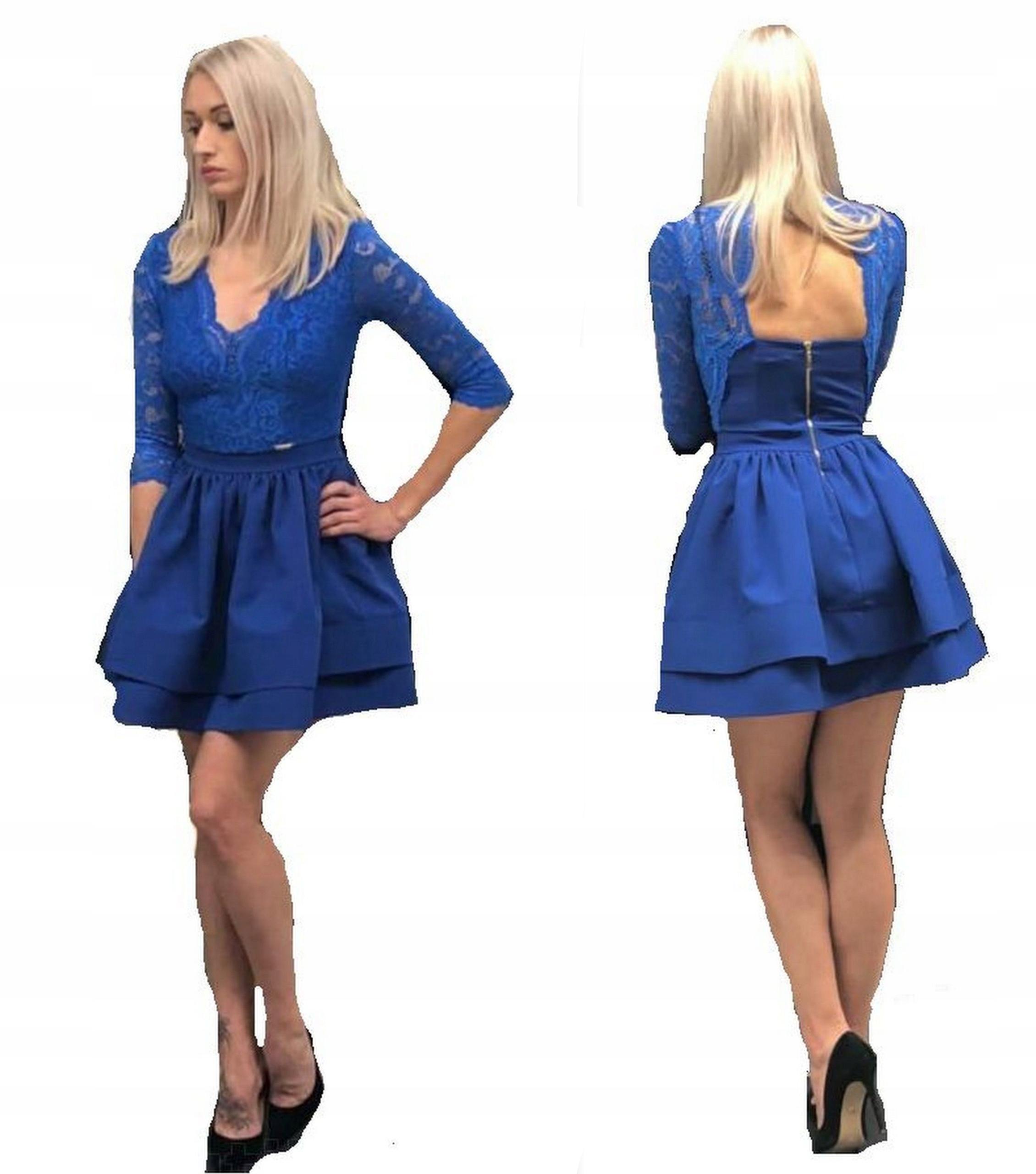 e757369e8a Chabrowa Sukienka S.MORISS Glamour r.S - 7063901267 - oficjalne ...