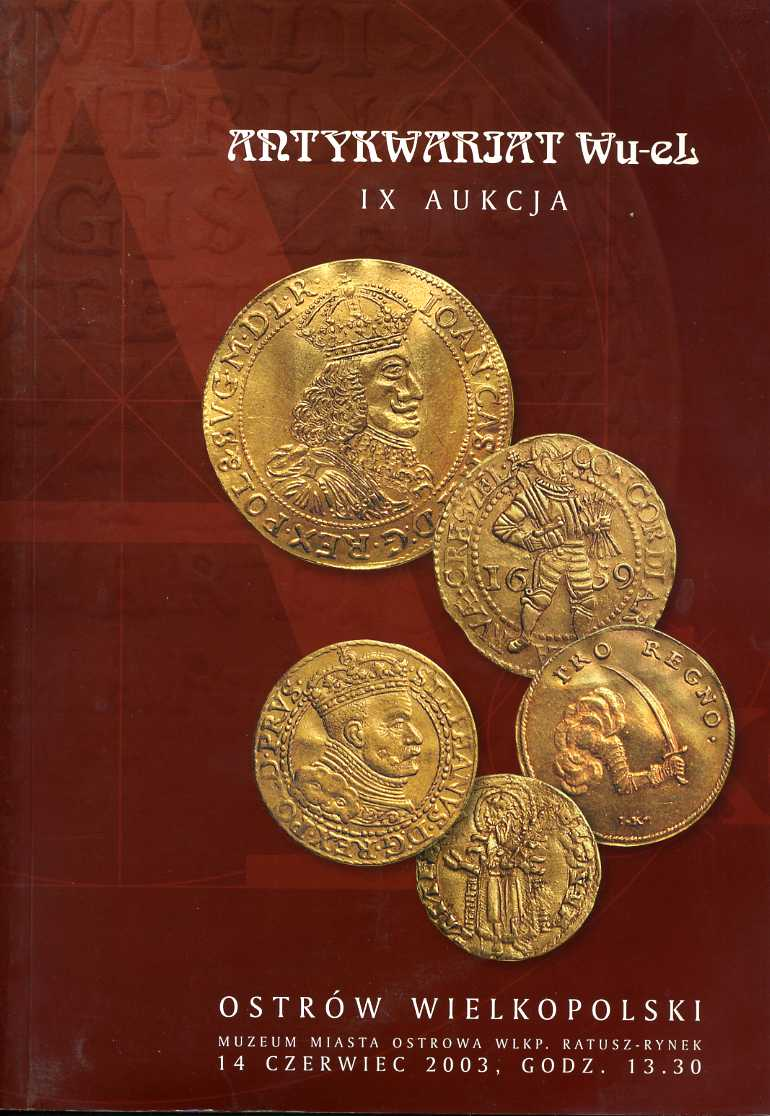 Katalog Aukcji Antykwariat Wu El 2003 7244280620 Oficjalne