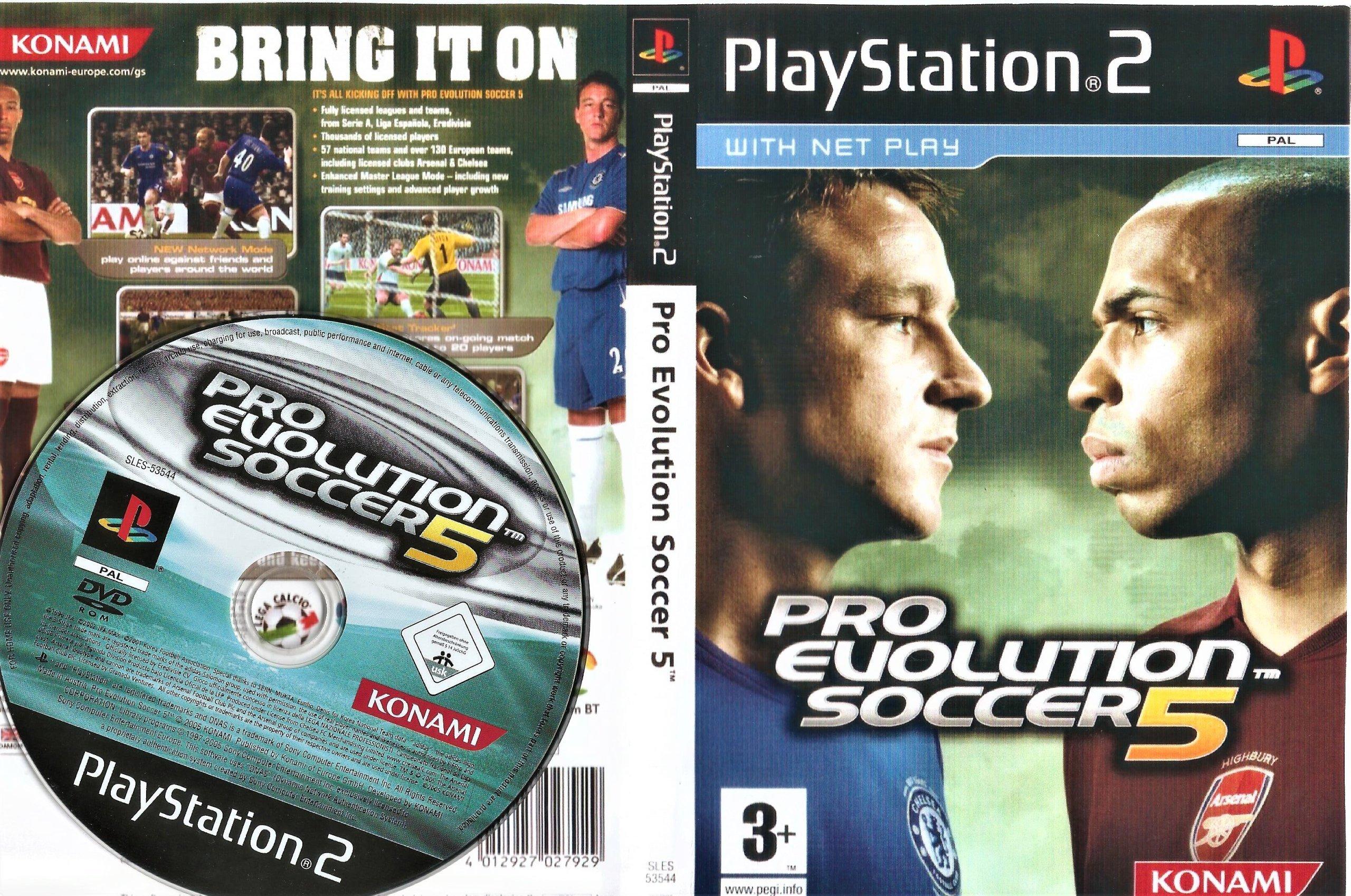 PRO EVOLUTION SOCCER 5 PES 5 PS2/BDB/GW/V-XK-CE - 7159727488