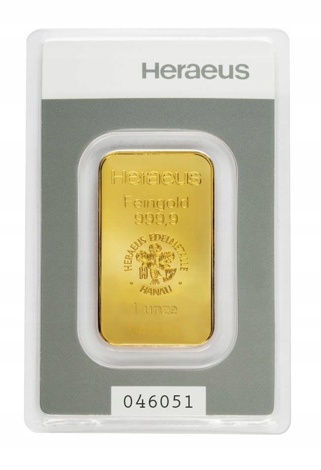 Sztabka Złota - Heraeus - 31,1 g