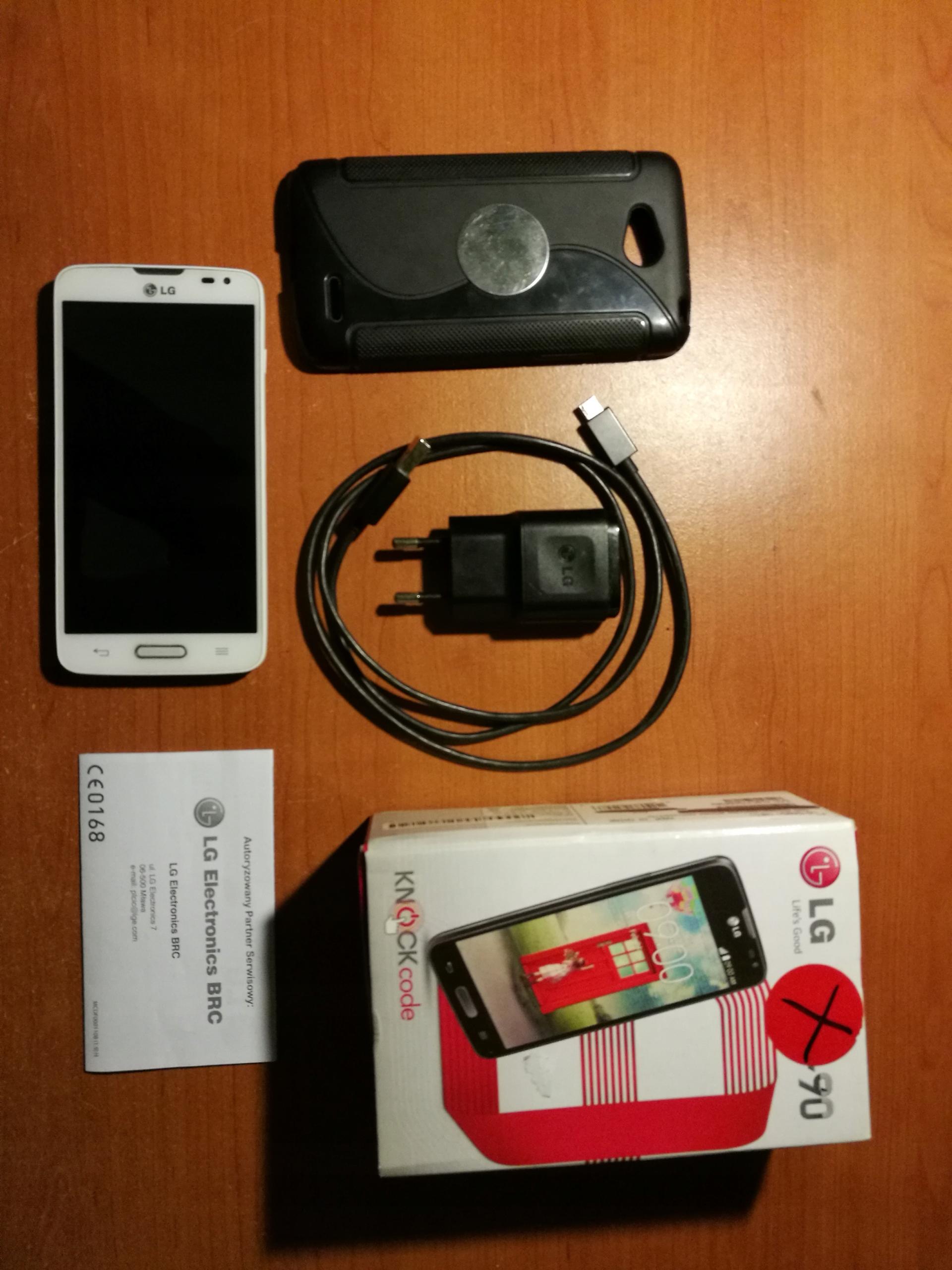 LG L90 Sprawny Komplet Bez simlocka Biały Ładny st