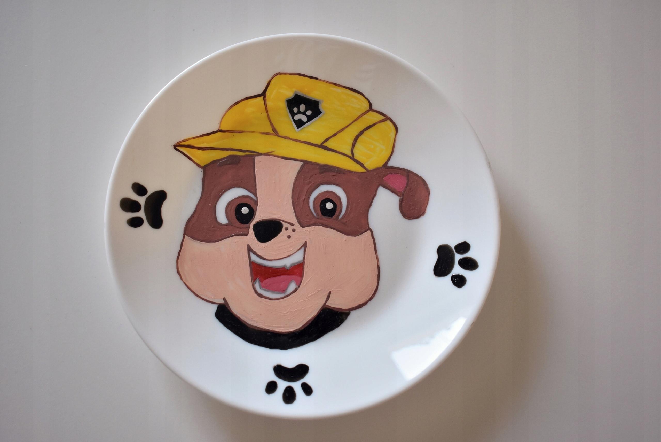 Psi Patrol Rubbel talerzyk talerz porcelanowy