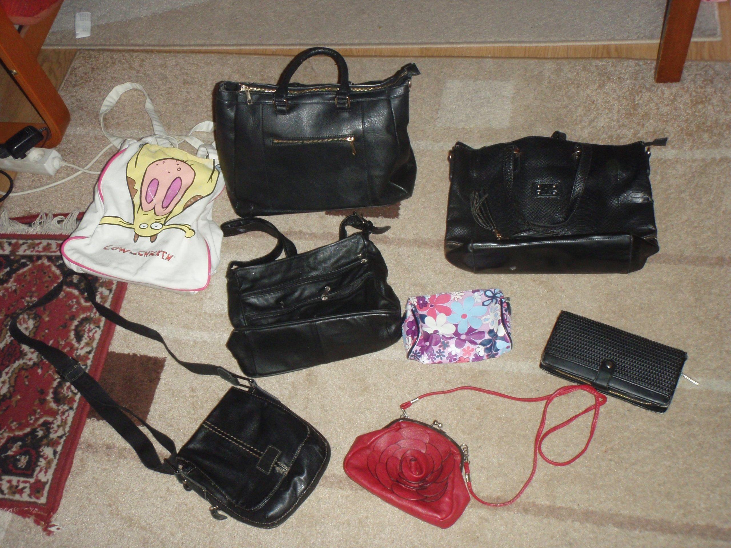 8b0b3ed20b5cc Torebki damskie 5 szt +duży portfel i kosmetyczka - 7143568118 ...