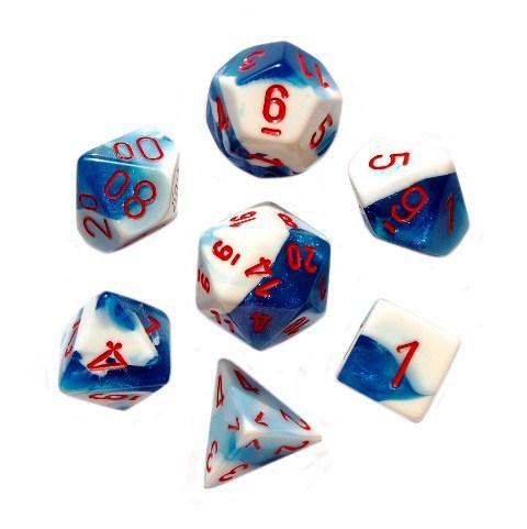6fbc705034917f Kości RPG 7 szt + pudełko Gemini Astral Blue WBM - 6880494685 ...