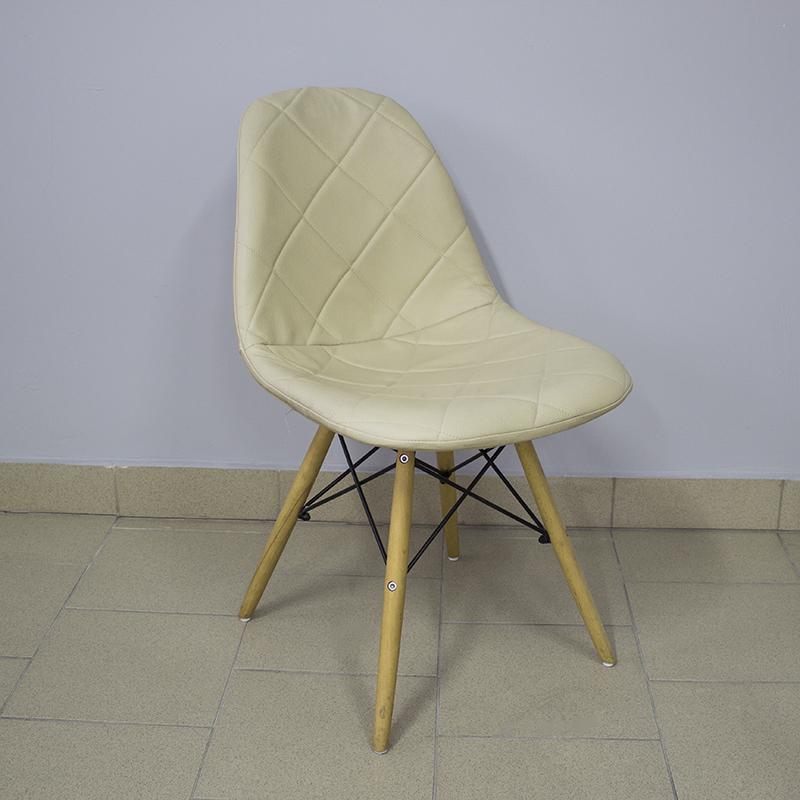 Outlet Krzesło Fotel Tapicerowane Do Salonu Beżowe 7194840288