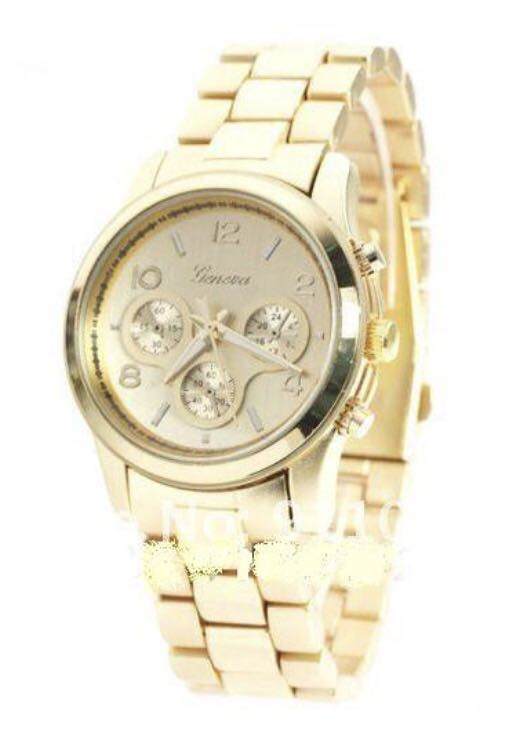 Złoty zegarek GENEVA na bransolecie Blogerski