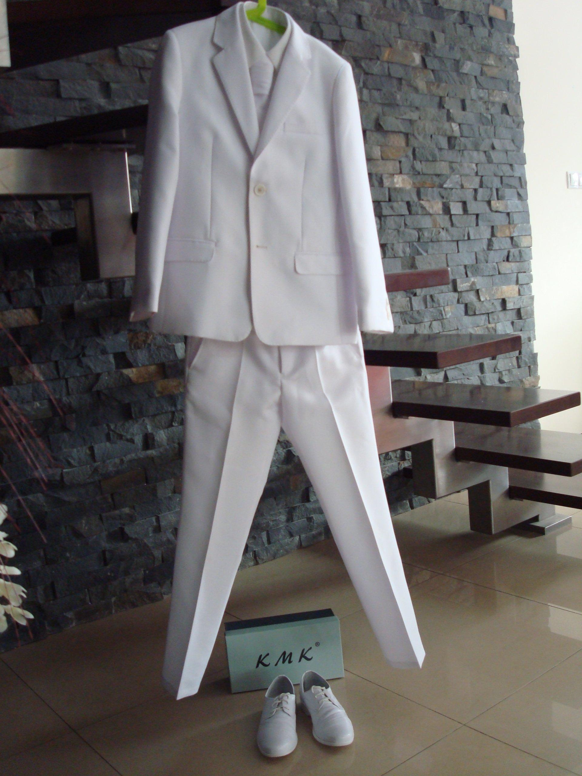 0e9c95855bfa7 Komunia biały garnitur + krawat KONIK 140 + GRATIS - 7204417041 ...