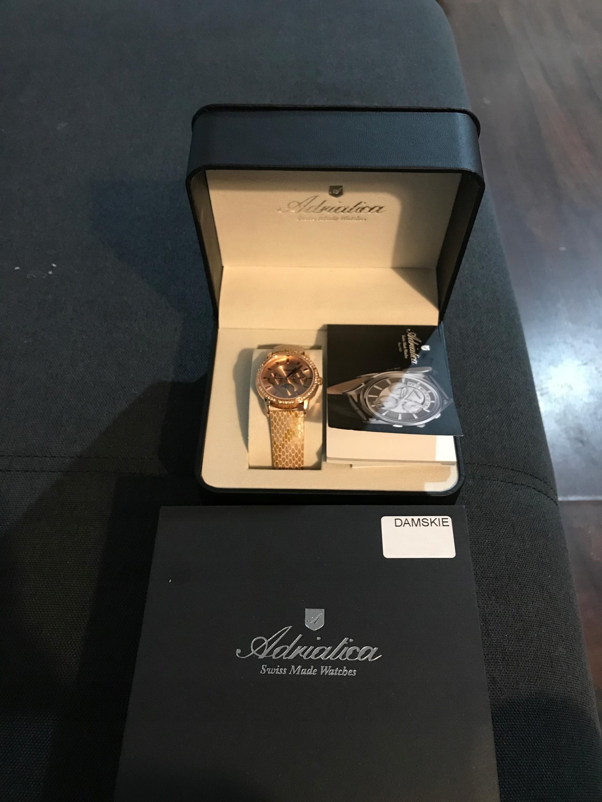 Damski zegarek Adriatica A3601.921Rqfz gwarancja