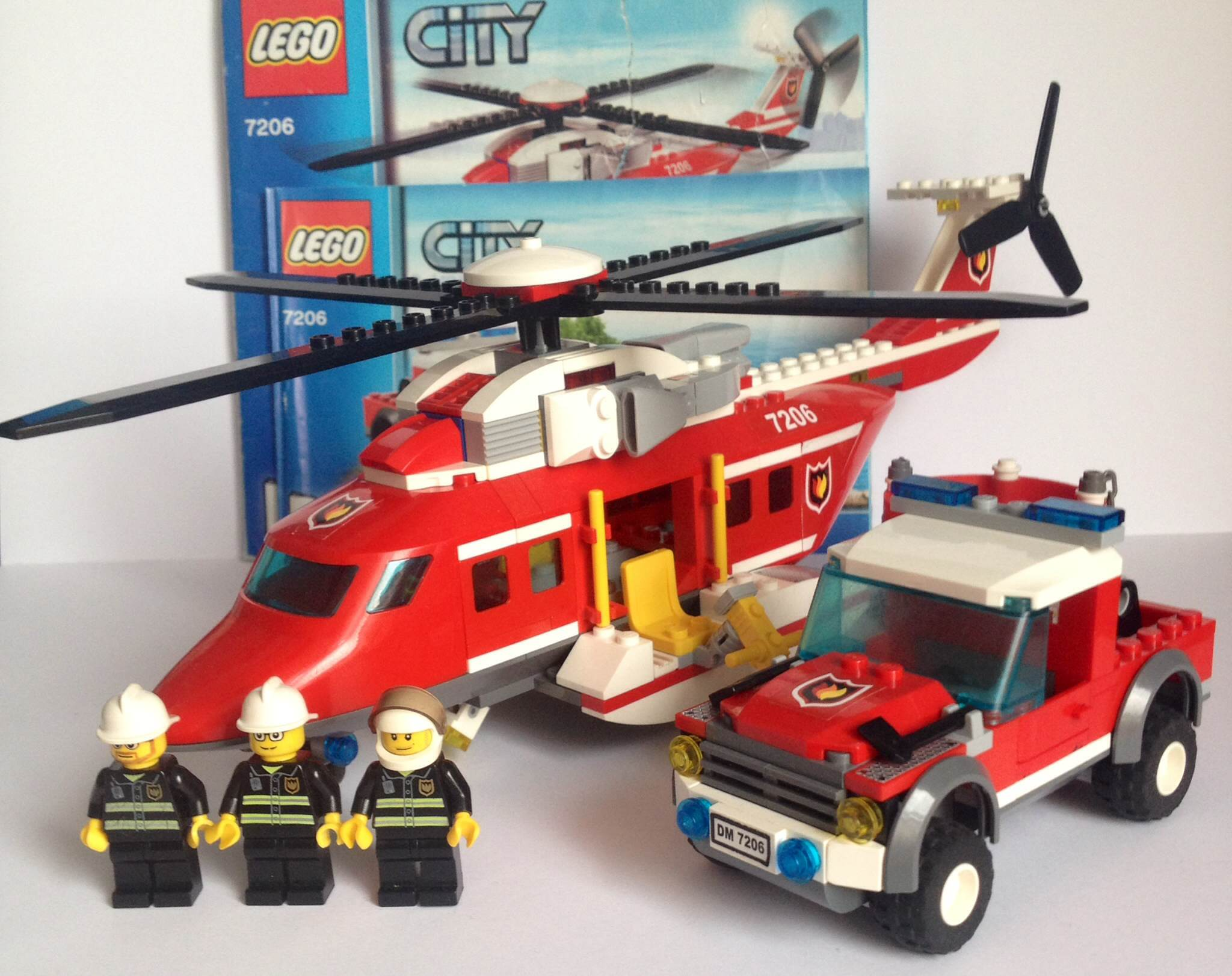 Lego City 7206 Straż Pożarna Helikopter Auto 7392490885