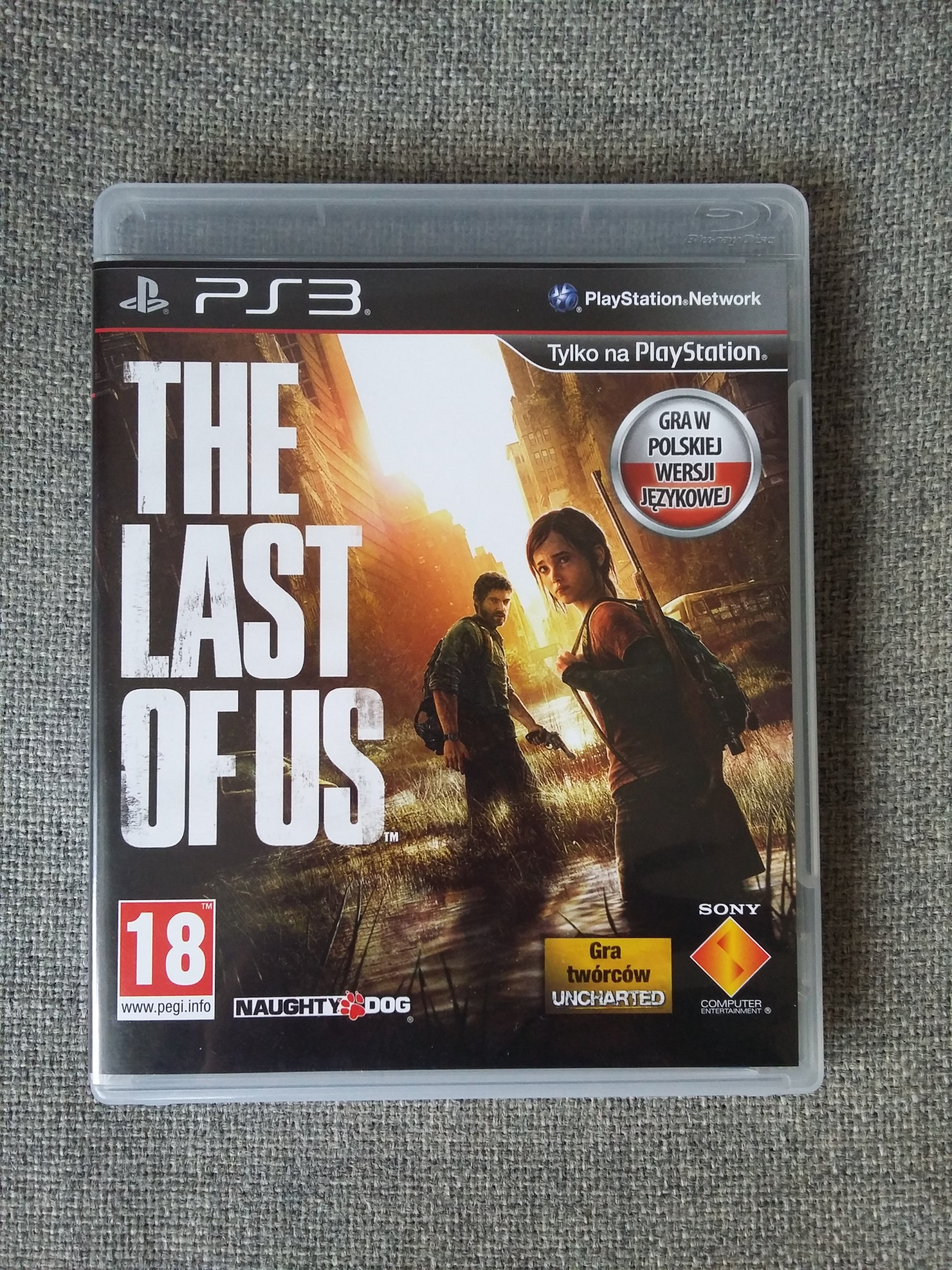 The Last of Us PL + online pass PS3