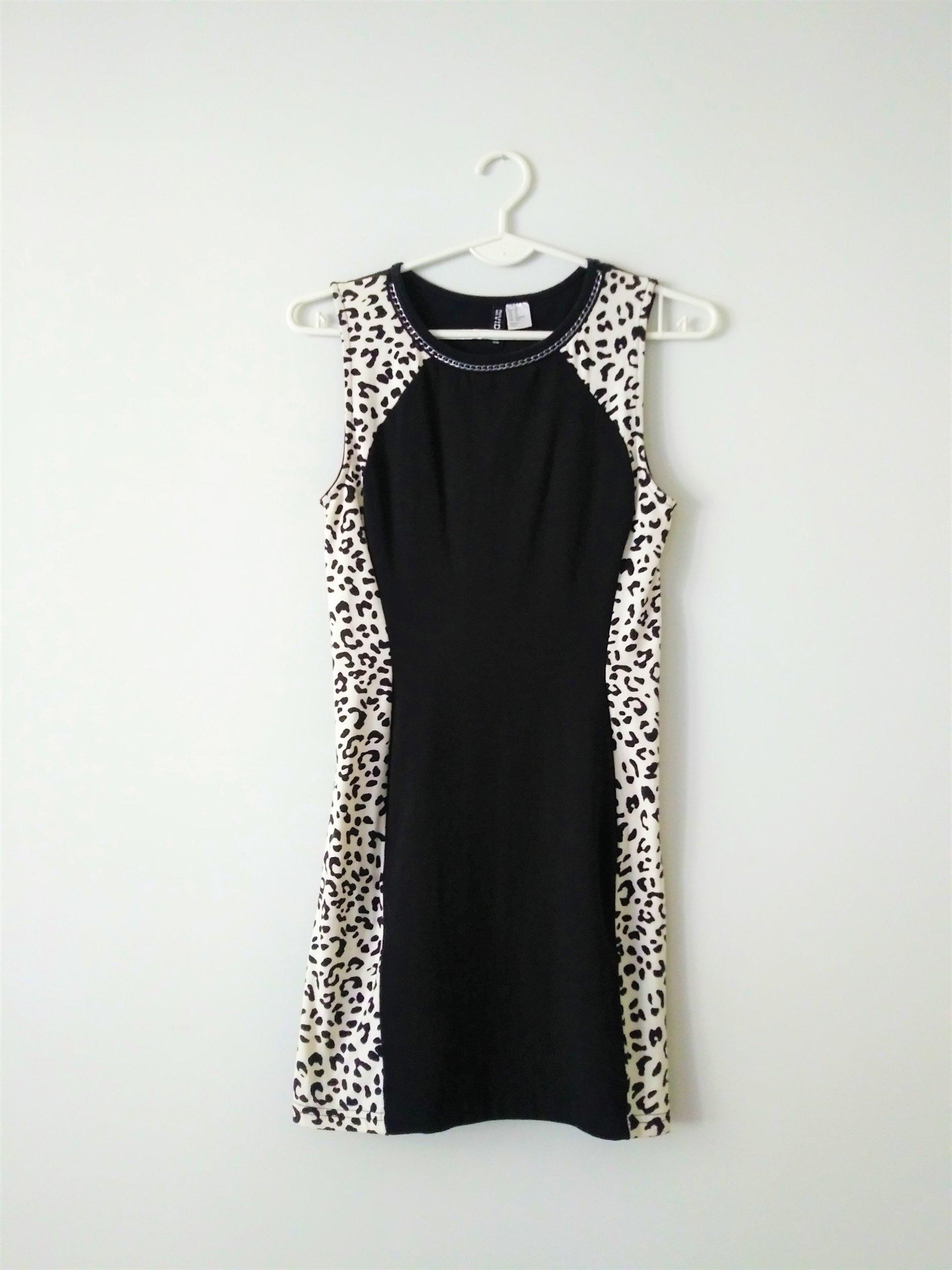 Sukienka H&M czarno biała XS studniówka 7682616324